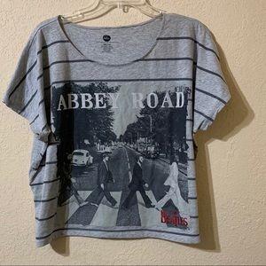 The Beatles Plus Size XXL Women's Crop Shirt